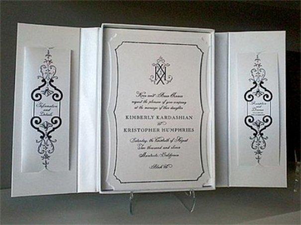 Si lo reconocéis, estáis de suerte: es la invitación de boda de Kim Kardashian