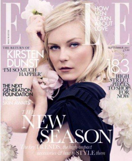 ¿Se puede ser más ñoña y lánguida que Kirsten Dunst en la portada de Elle UK?